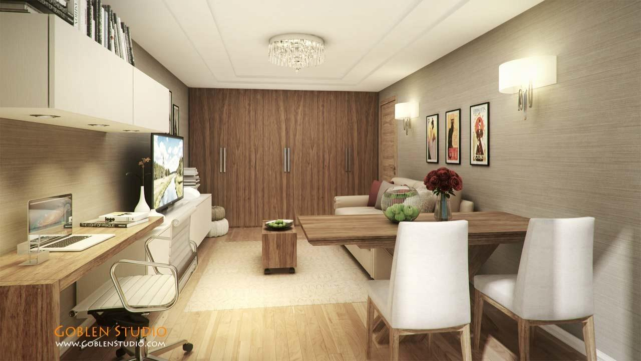 Architectural Visualization Modern Apartment Moscow