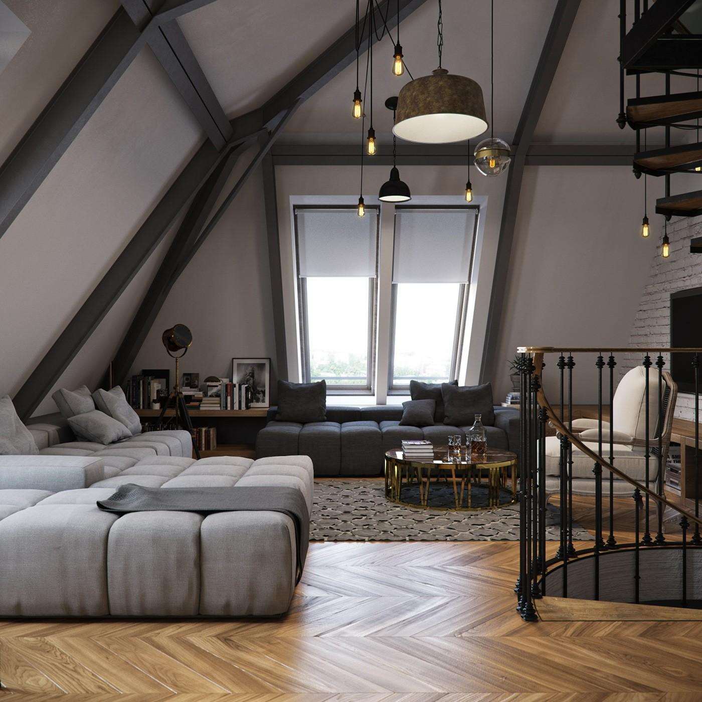 Architectures Gorgeous Loft Design Ideas Industrial
