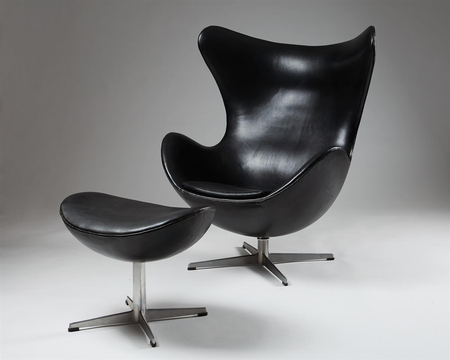 Arm Chair Foot Stool Egg Designed Arne