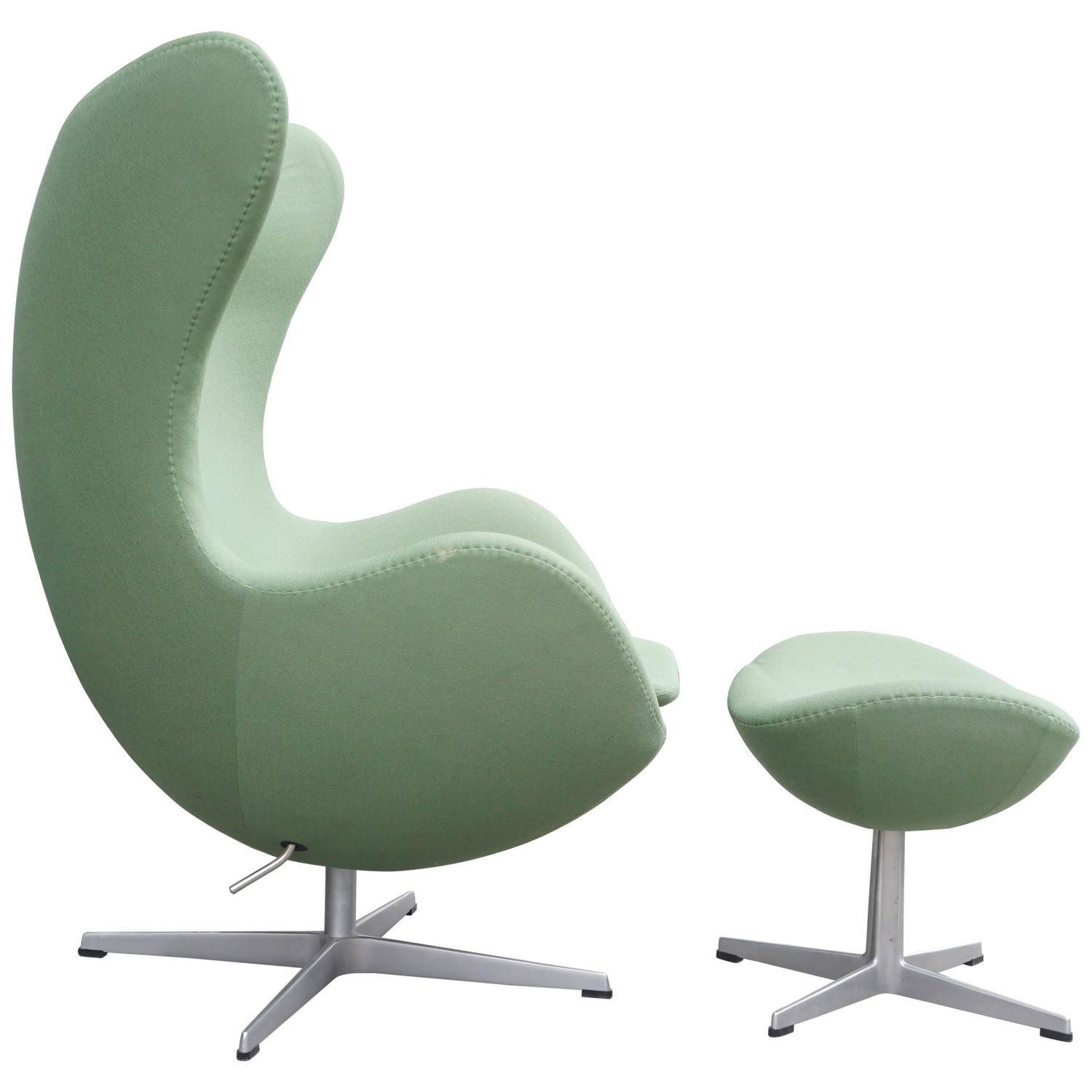 Arne Jacobsen Egg Chair Ottoman 1stdibs
