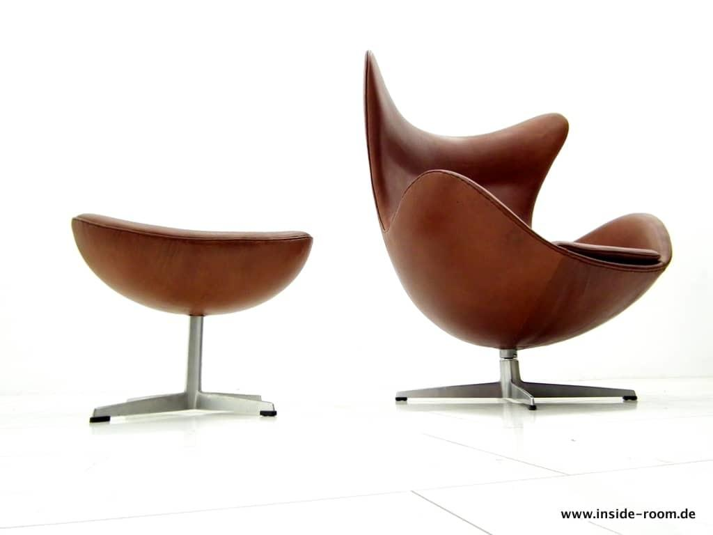 Arne Jacobsen Egg Chair Ottoman Fritz Hansen Inside Room