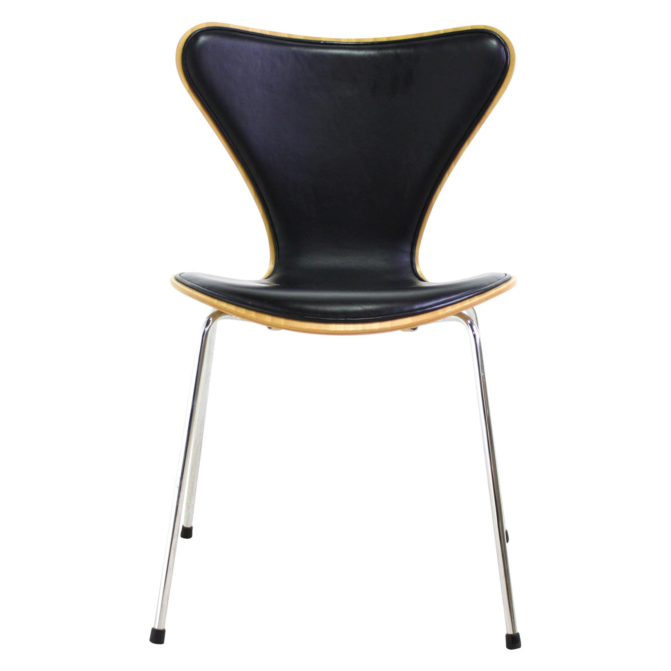Arne Jacobsen Series Chair Black Avail Chairish