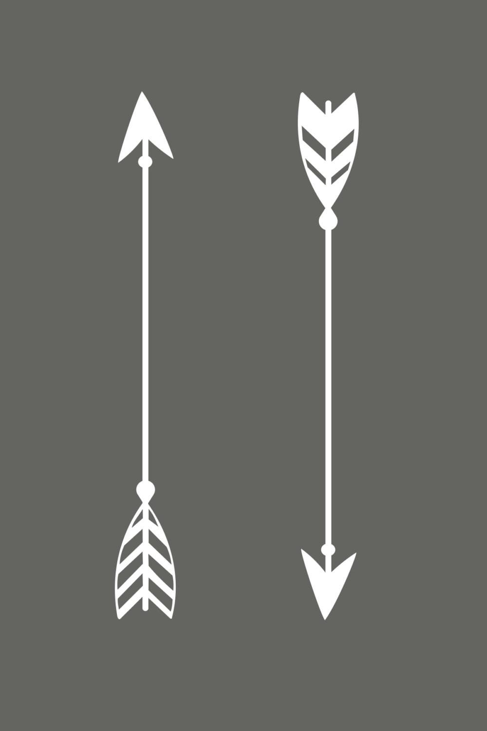 Arrow Decal Rustic Wedding Decor Boho