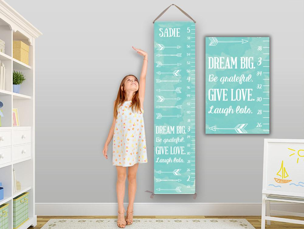 Arrow Growth Chart Personalized Canvas