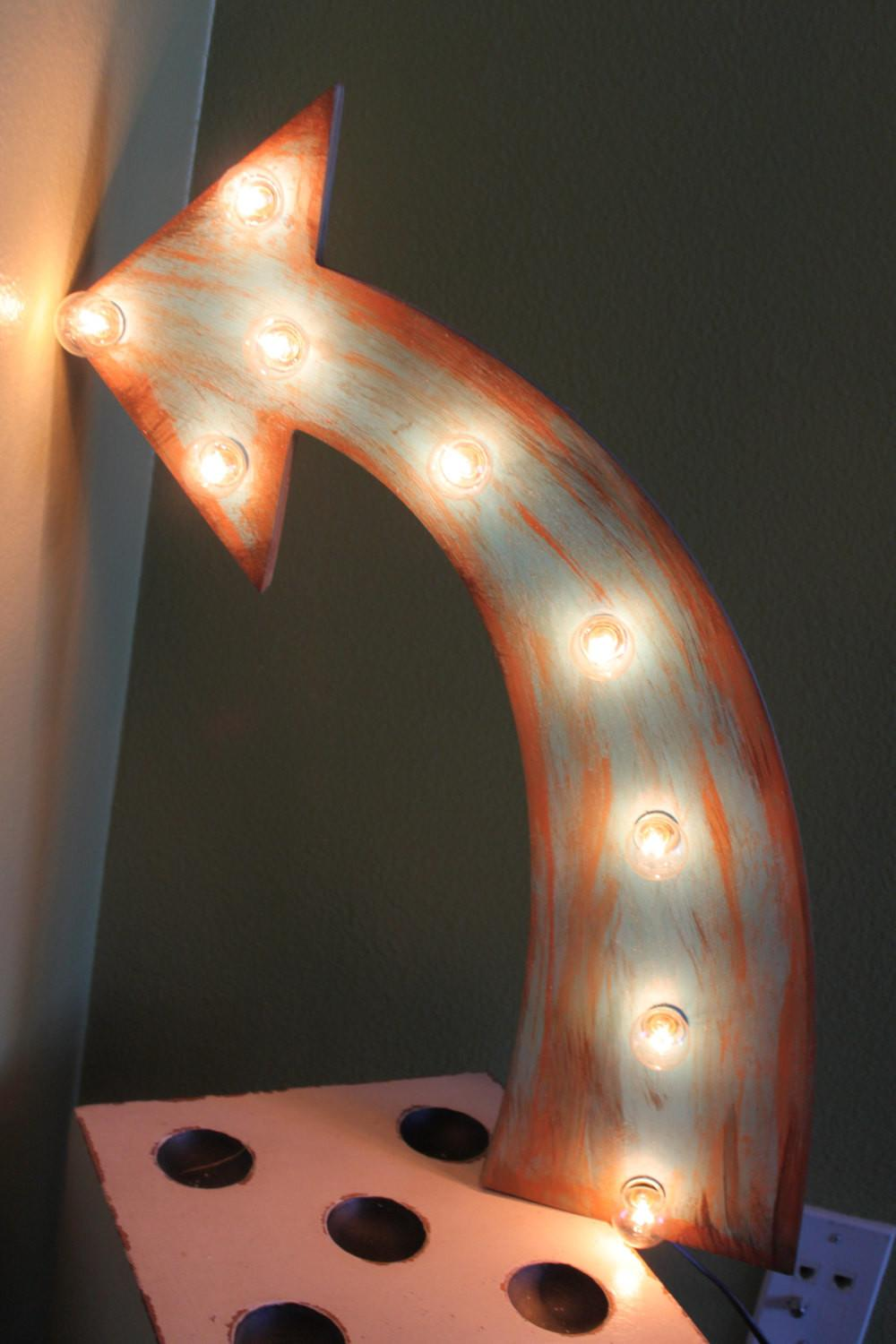 Arrow Vintage Marquee Lighted Wood Bar Business