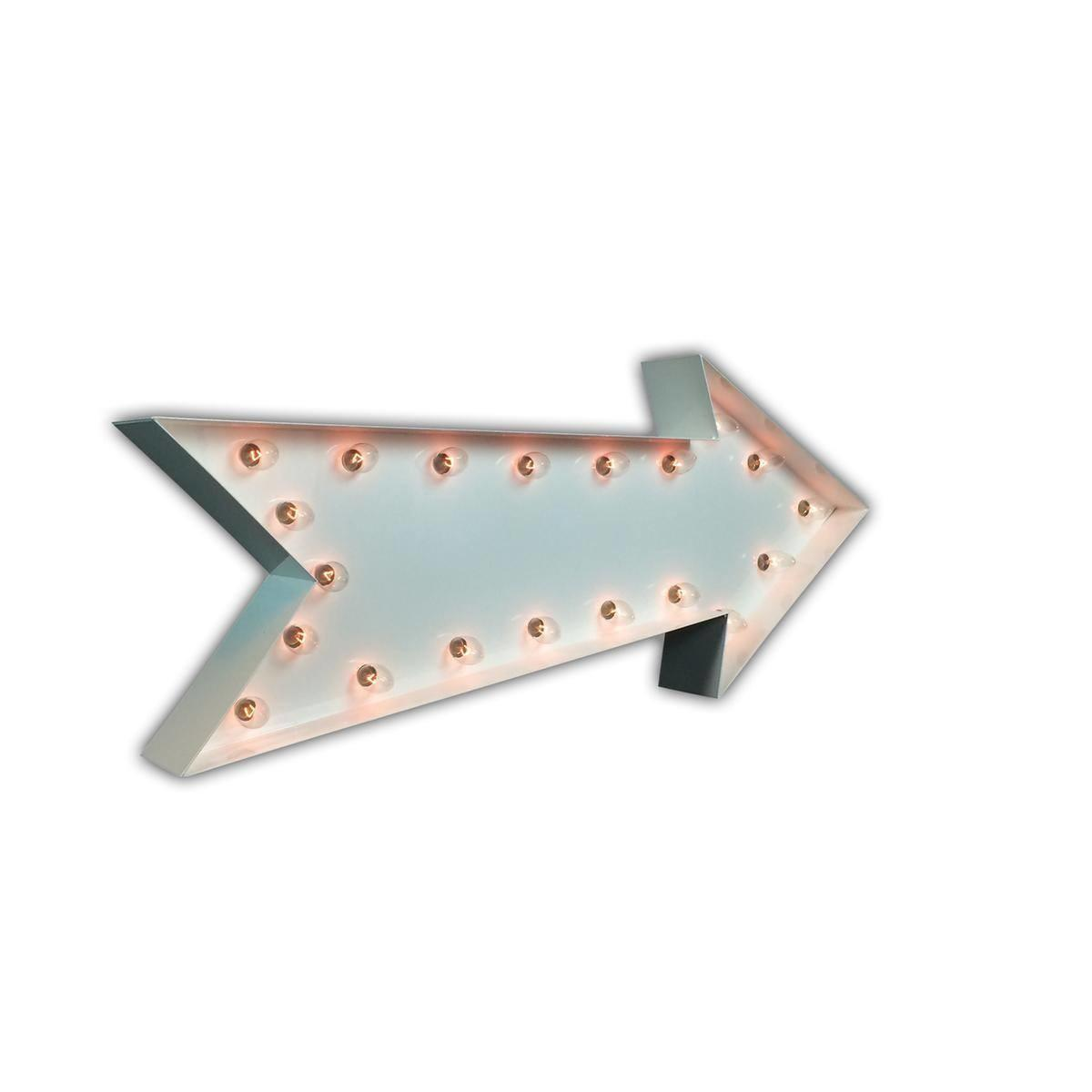 Arrow Vintage Marquee Lights Sign White Gloss Buy