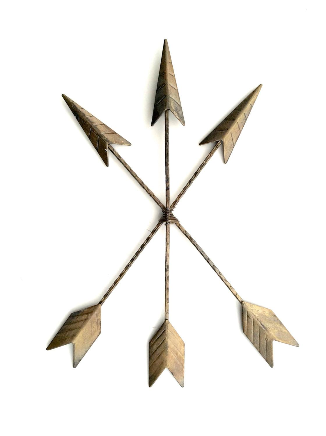 Arrow Wall Art Decor Hanging Metal
