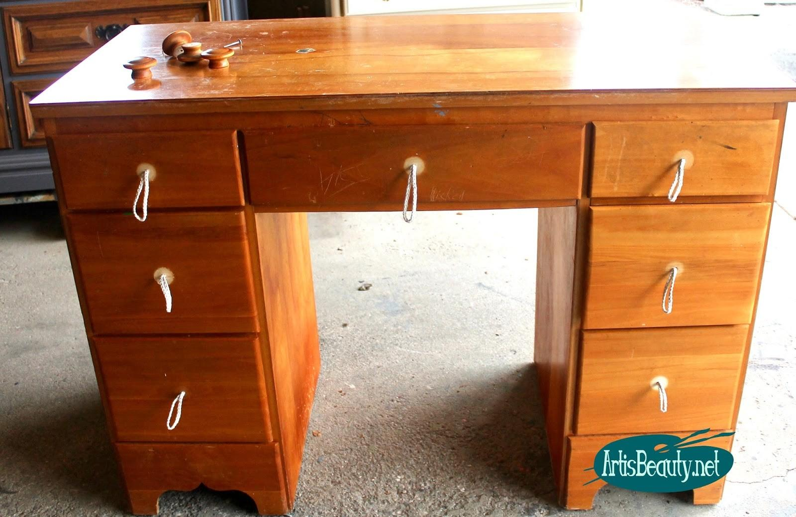 Art Beauty Bohemian Style Painted Desk Makeover