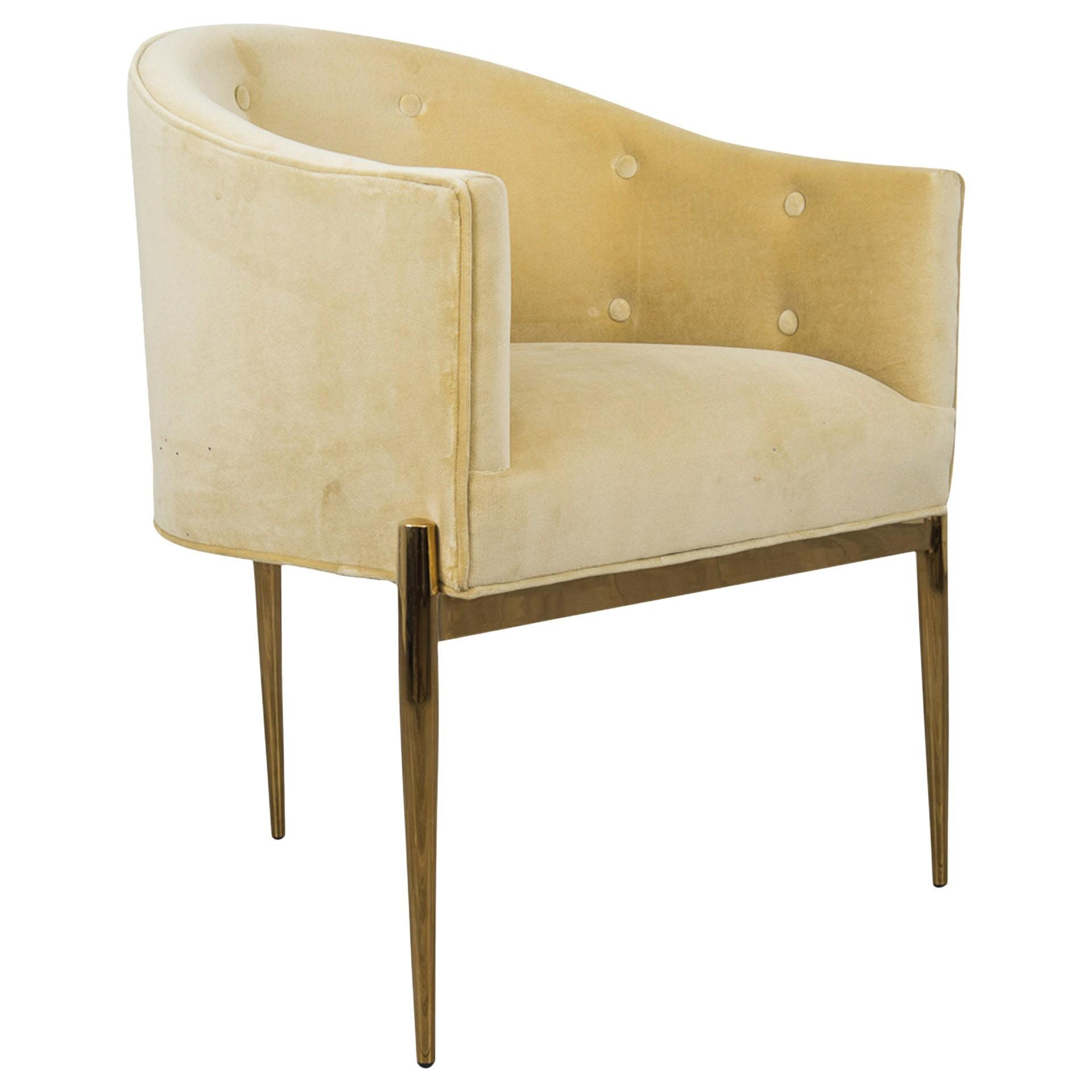 Art Deco Dining Chair Contemporary Industrial Mid