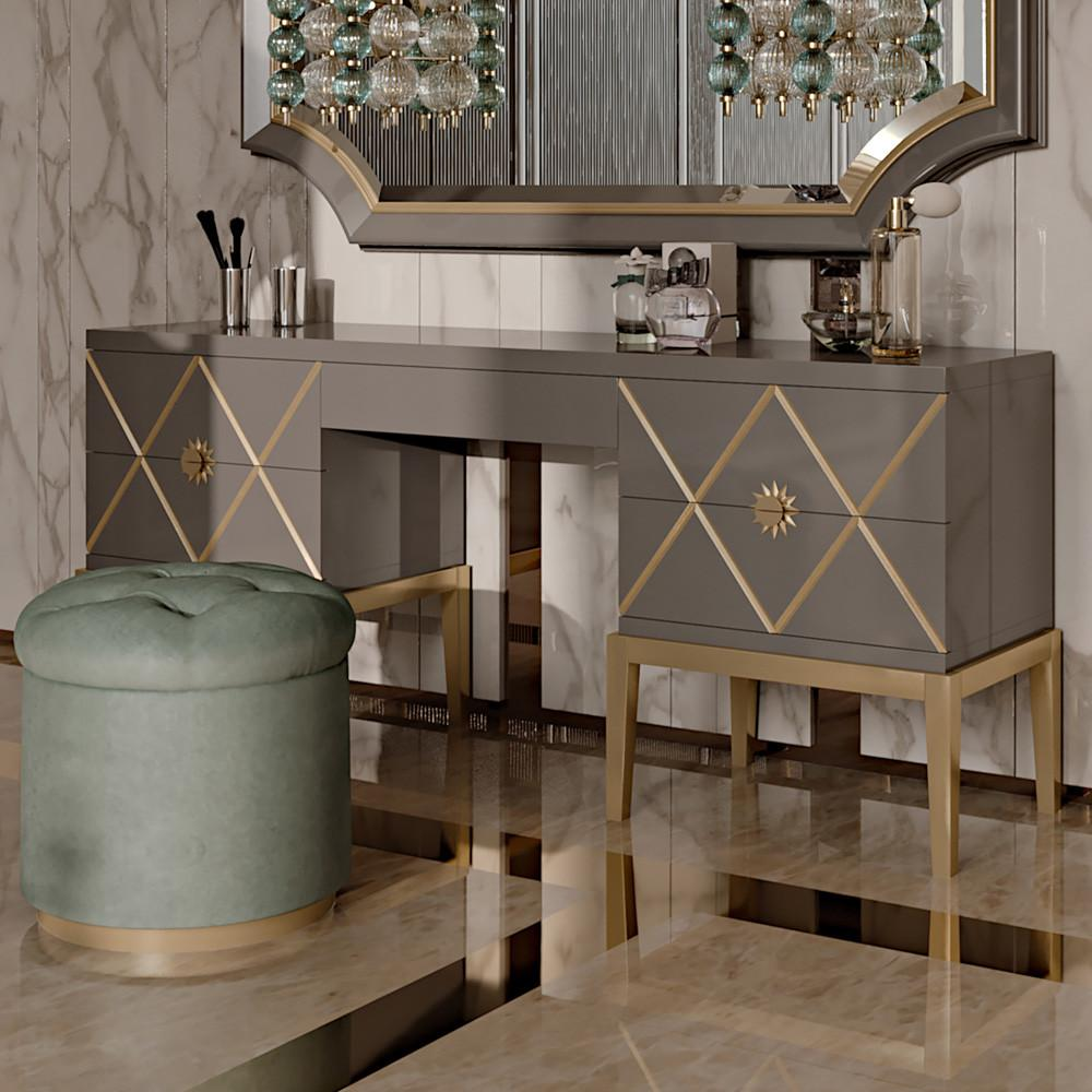 Art Deco Inspired Italian Designer Drawer Dressing Table