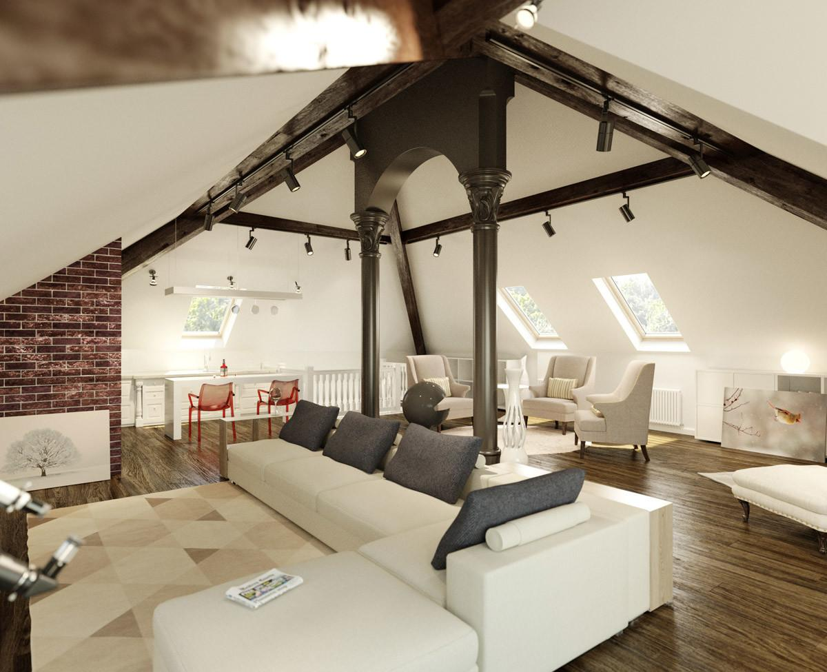 Art Sloped Ceiling Spaces