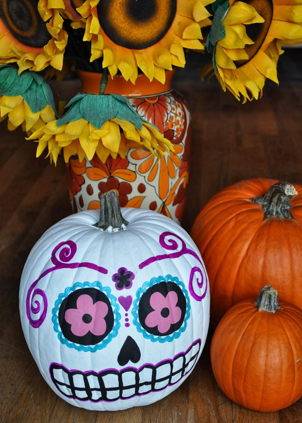 Artelexia Day Dead Diy Sugar Skull Pumpkins