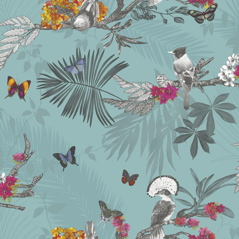 Arthouse Mystical Forest Teal Wilko