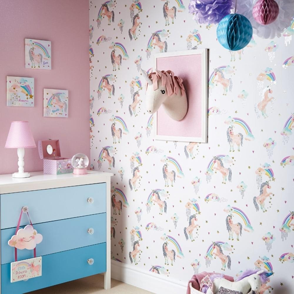 Arthouse Ursula Unicorn Decorative Childrens Wall Art