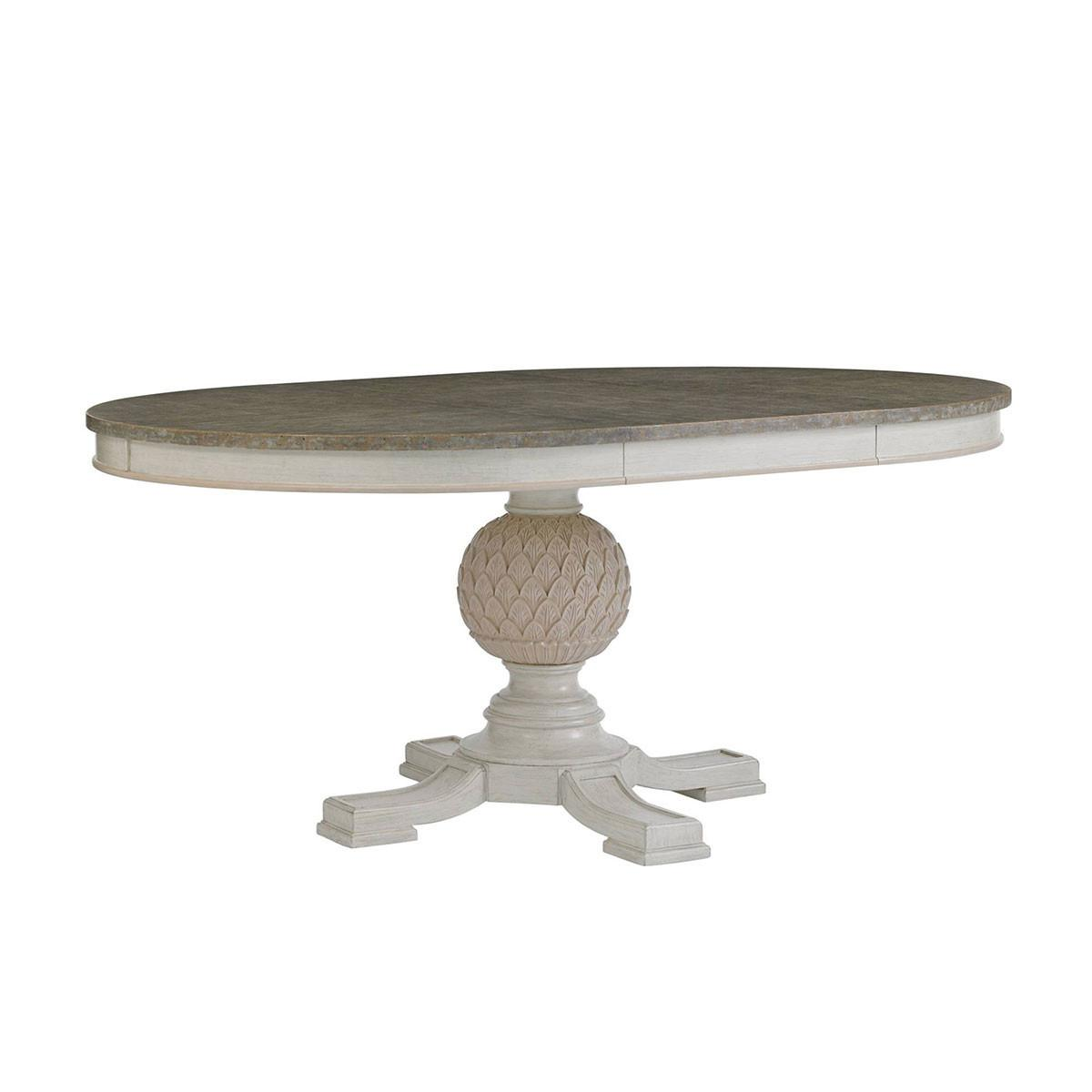 Artichoke Pedestal Round Dining Table