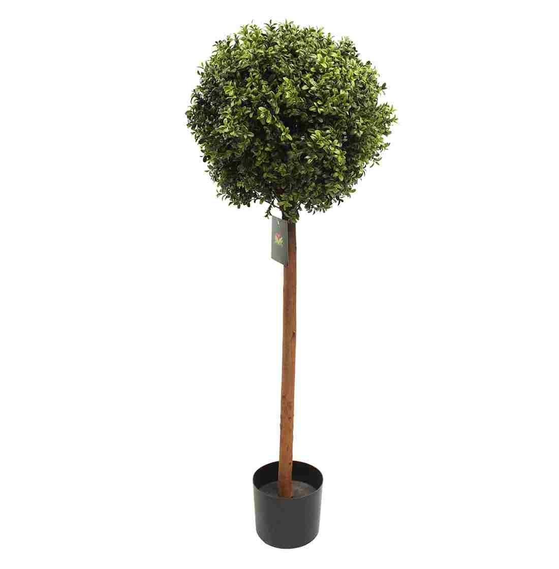 Artificial Boxwood Single Ball Tree Blooming