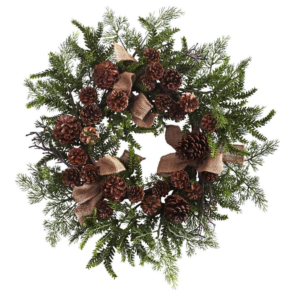 Artificial Pine Cone Silk Holiday Christmas