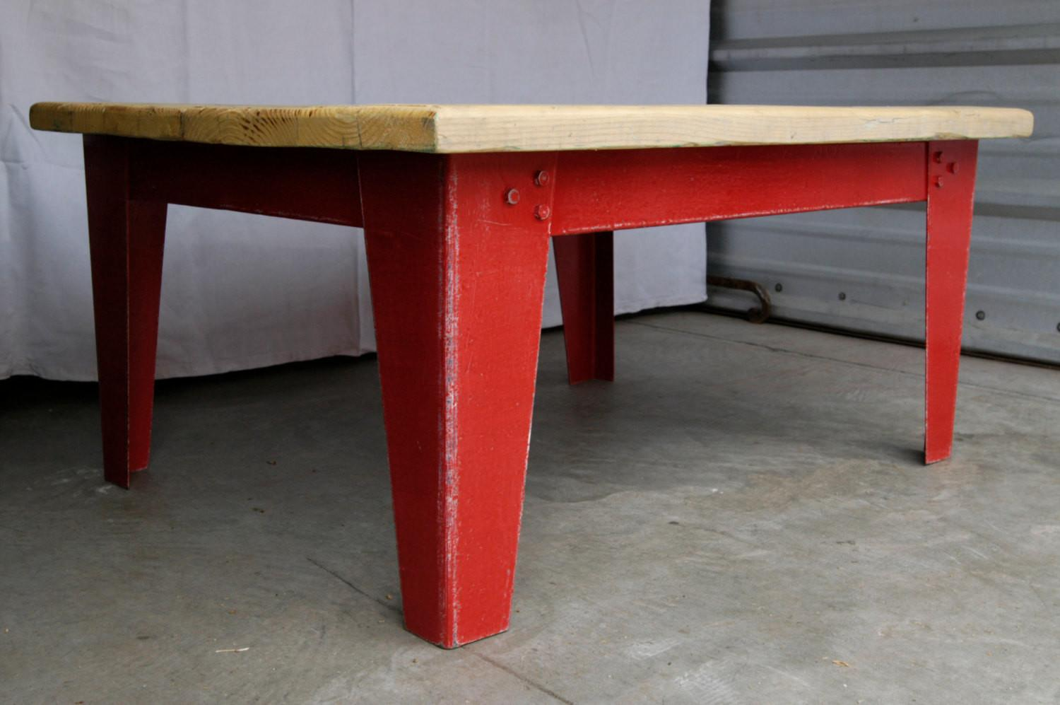 Artisan Made Industrial Chic Coffee Table Haute Juice