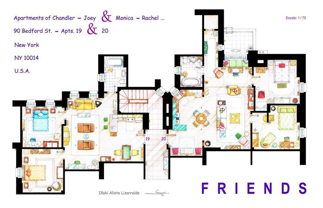 Artist Created Insanely Detailed Floor Plans Hit