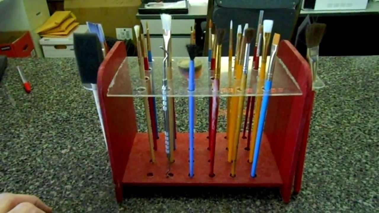Artist Paint Brush Organizer Diy Cad Cam Build