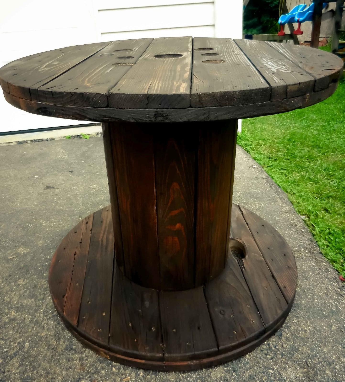 Artistic Icing Wooden Spool End Table Latest Diy