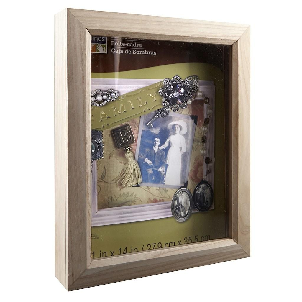 Artminds Shadow Box Unfinished Wood