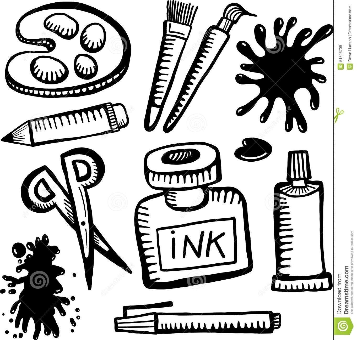 Arts Crafts Clipart Black White Animehana Decoratorist 146706