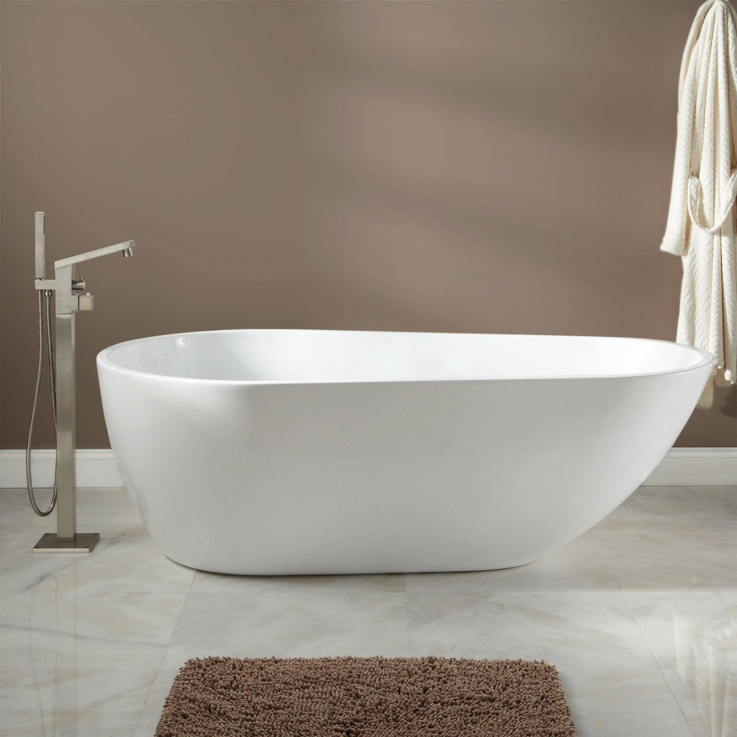 Arturi Round Acrylic Soaking Tub Bathroom