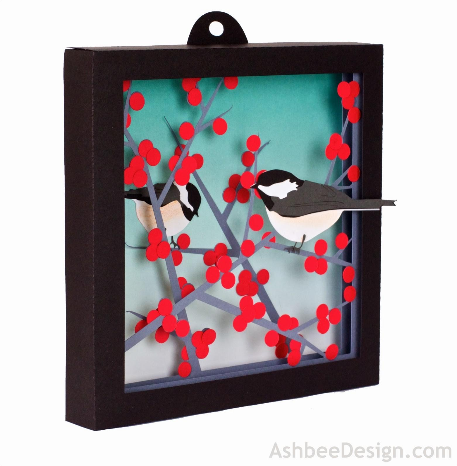 Ashbee Design Silhouette Projects Winterberry Shadow Box