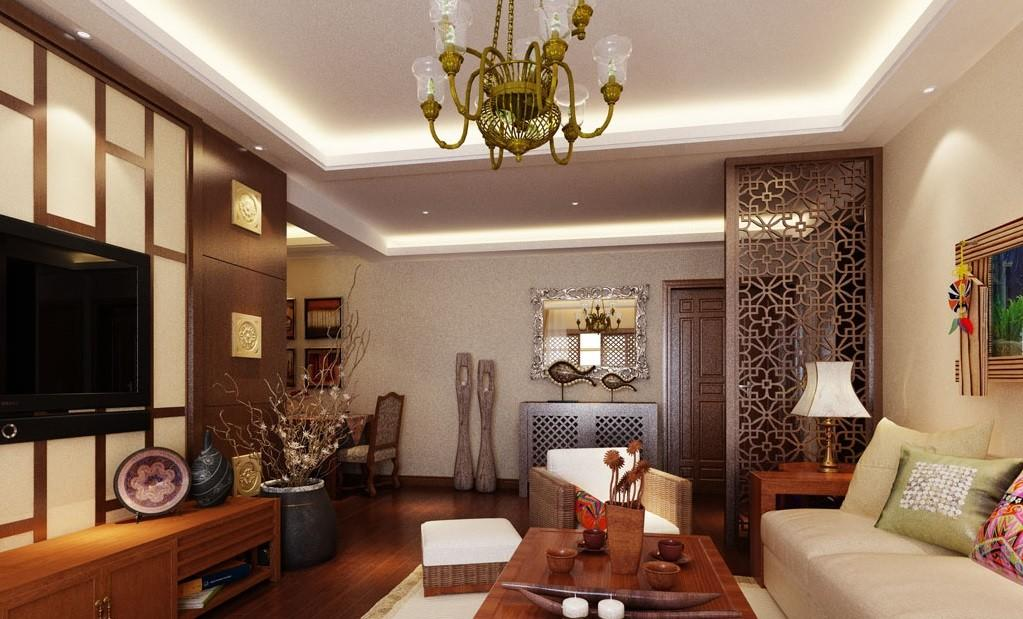 Asian Style Living Room Design Traditional Decoration
