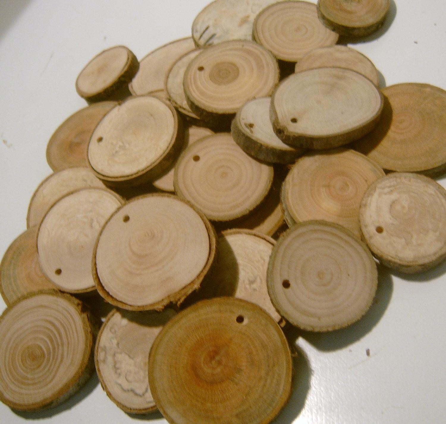 Assorted Blank Tree Branch Slices Inch Drilled