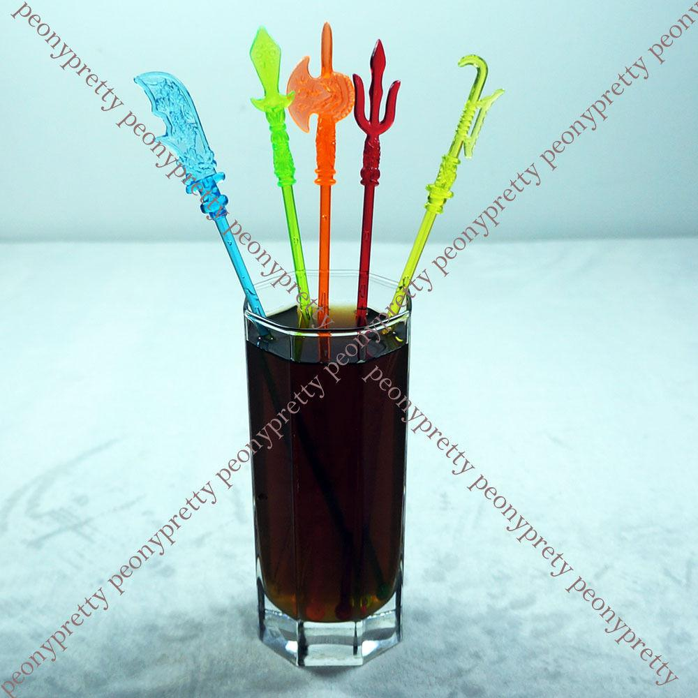 Assorted Colors Weapon Drink Stirrer Cocktail Swizzle Stir