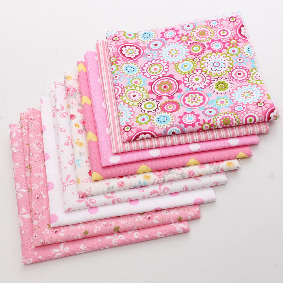Assorted Dot Fabric Cotton Cloth Pink Material Vintage