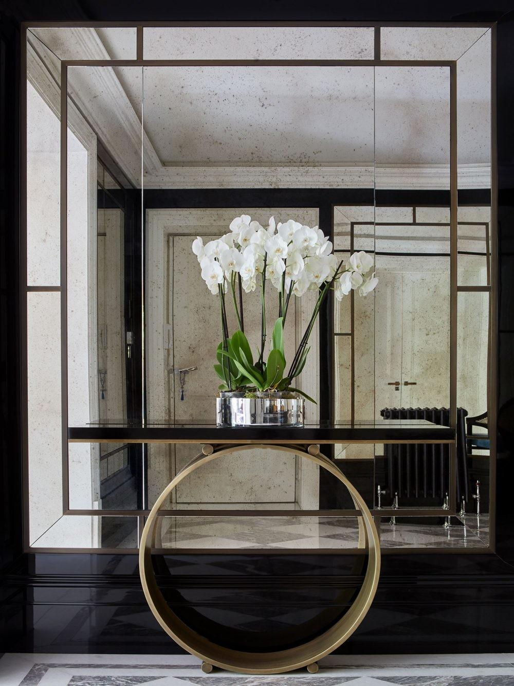 Astonishing Foyer Mirrors Welcoming Home Wall