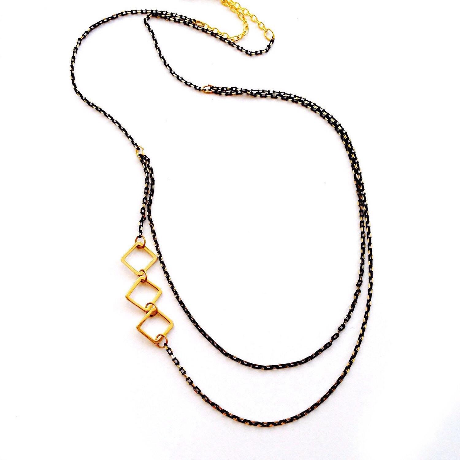 Asymmetric Evening Minimalist Modern 16k Gold Plated