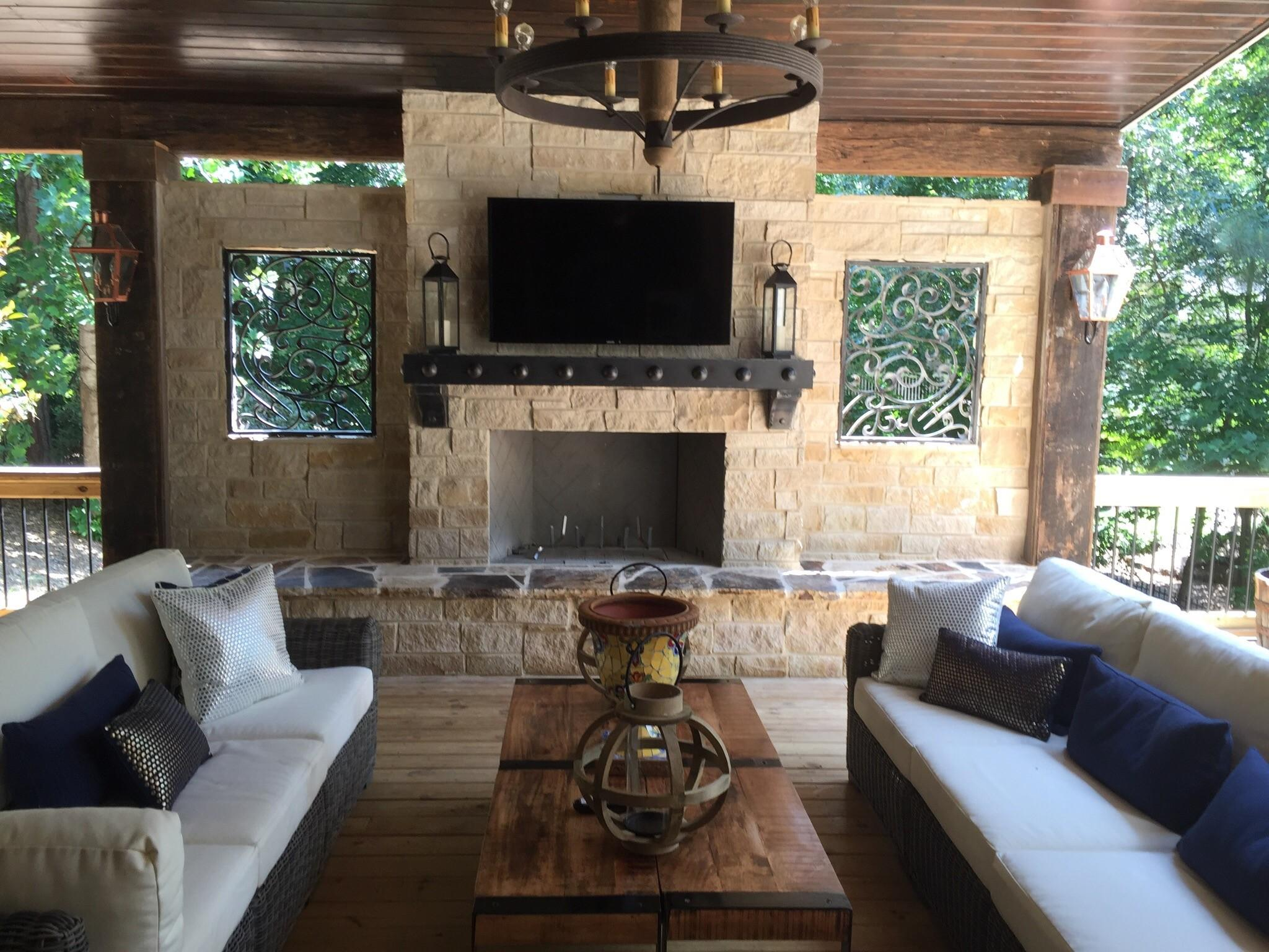 Atlanta Outdoor Fireplaces Kitchens Old Hat