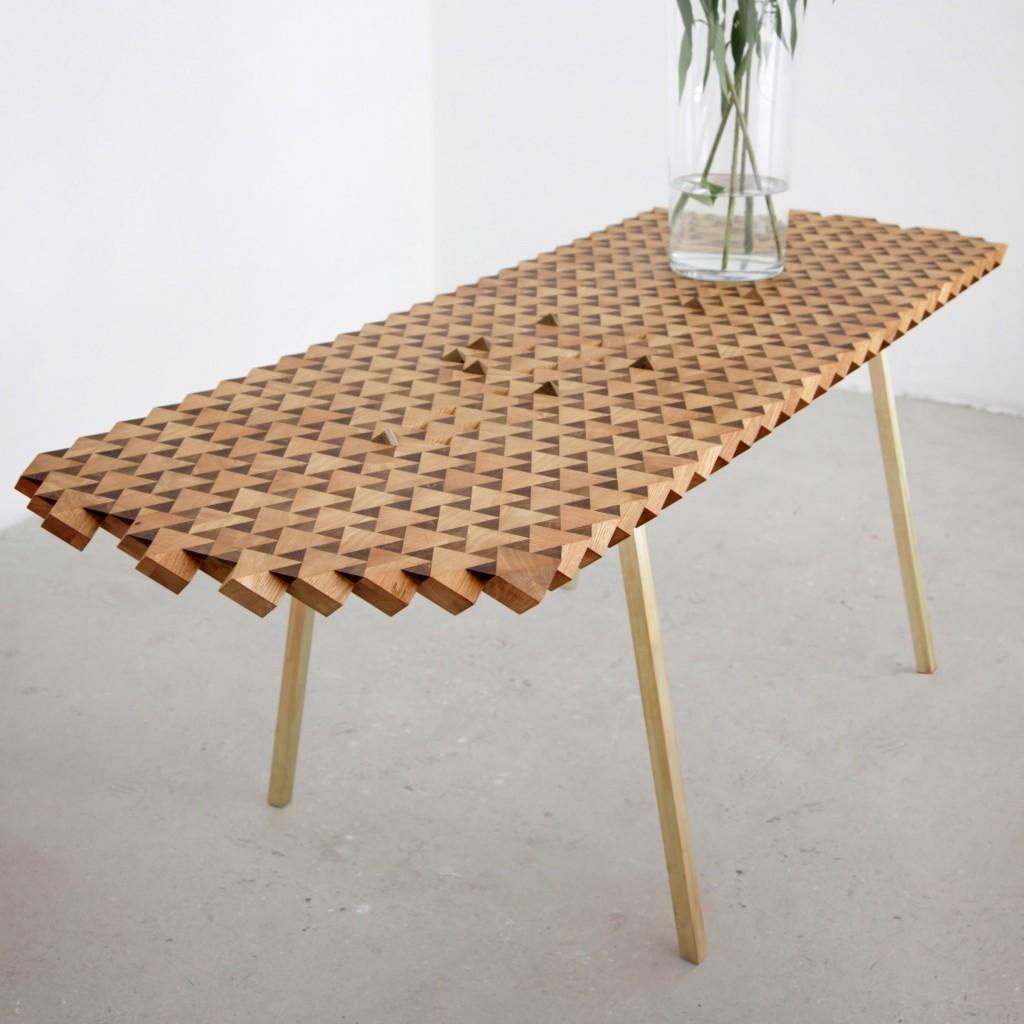 Atlas Table Geometric Wood Fundamental Homeli