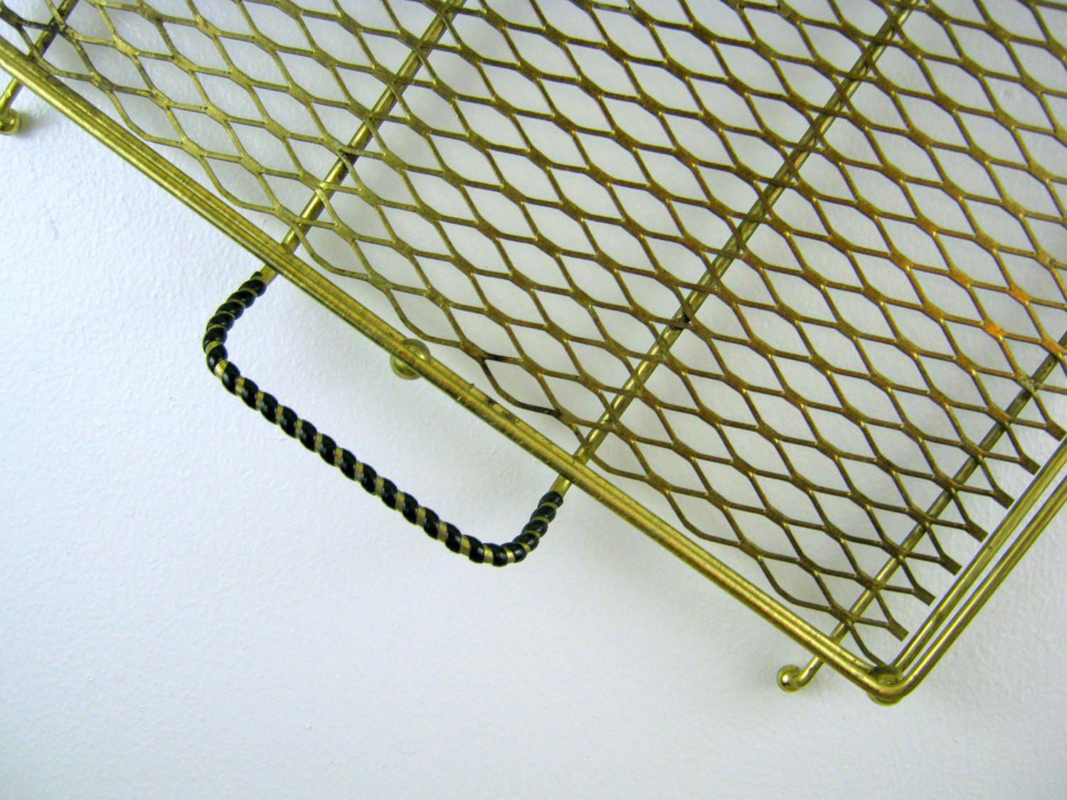 Atomic Age Perforated Metal Tray