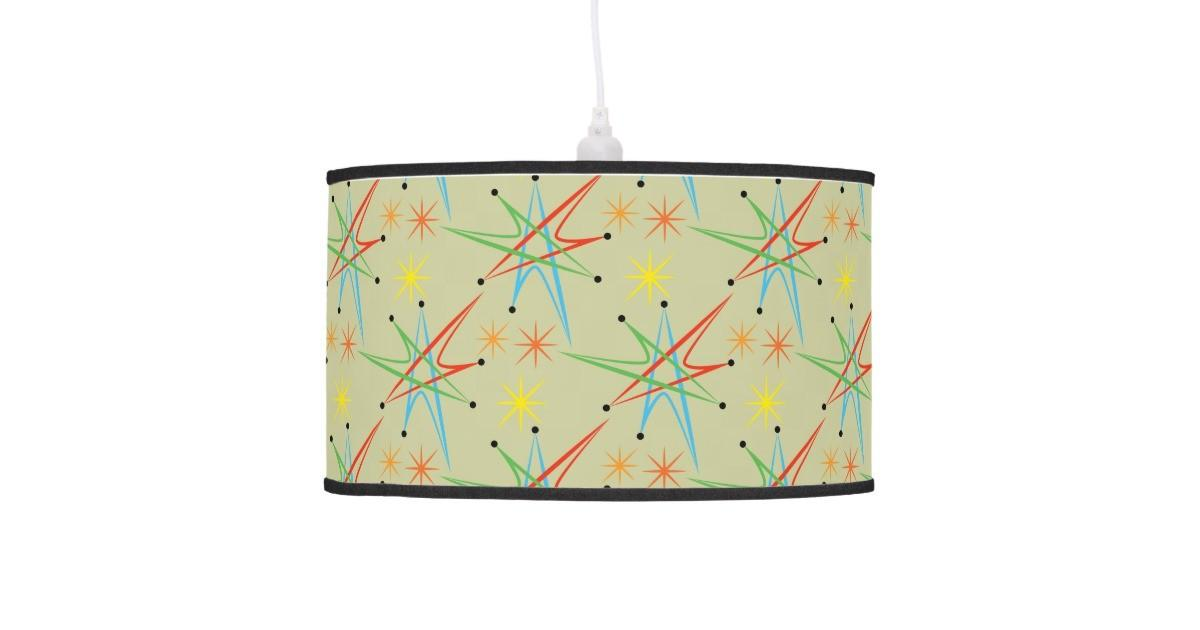 Atomic Starburst Retro Multicolored Pattern Ceiling Lamp