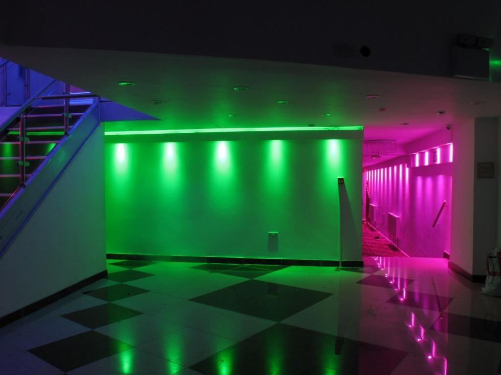 Atrracive Colorful Led Lights Decors Set Ceiling