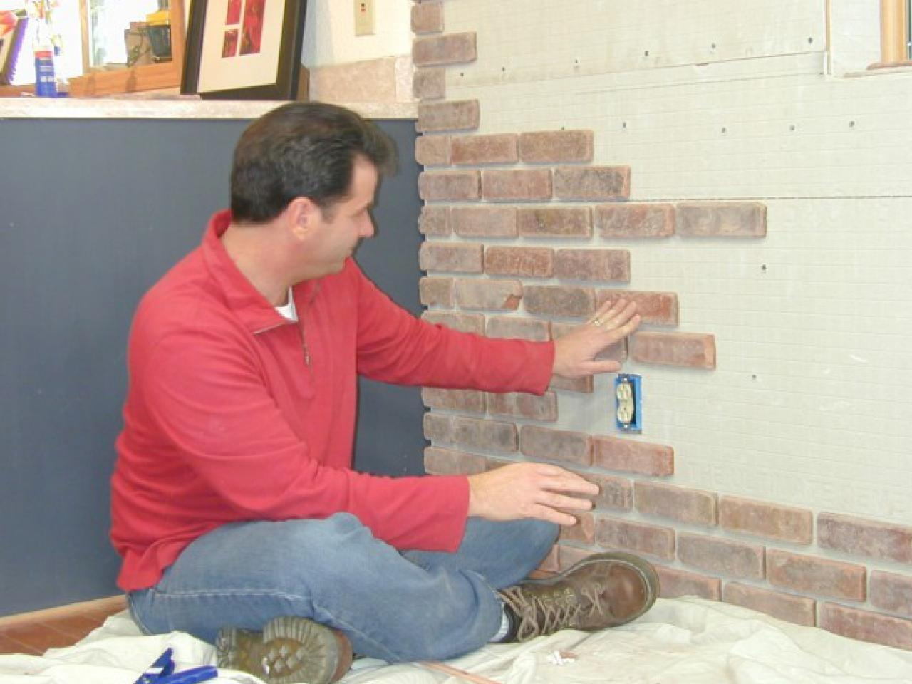 Attach Brick Veneer Inside Wall Tos Diy