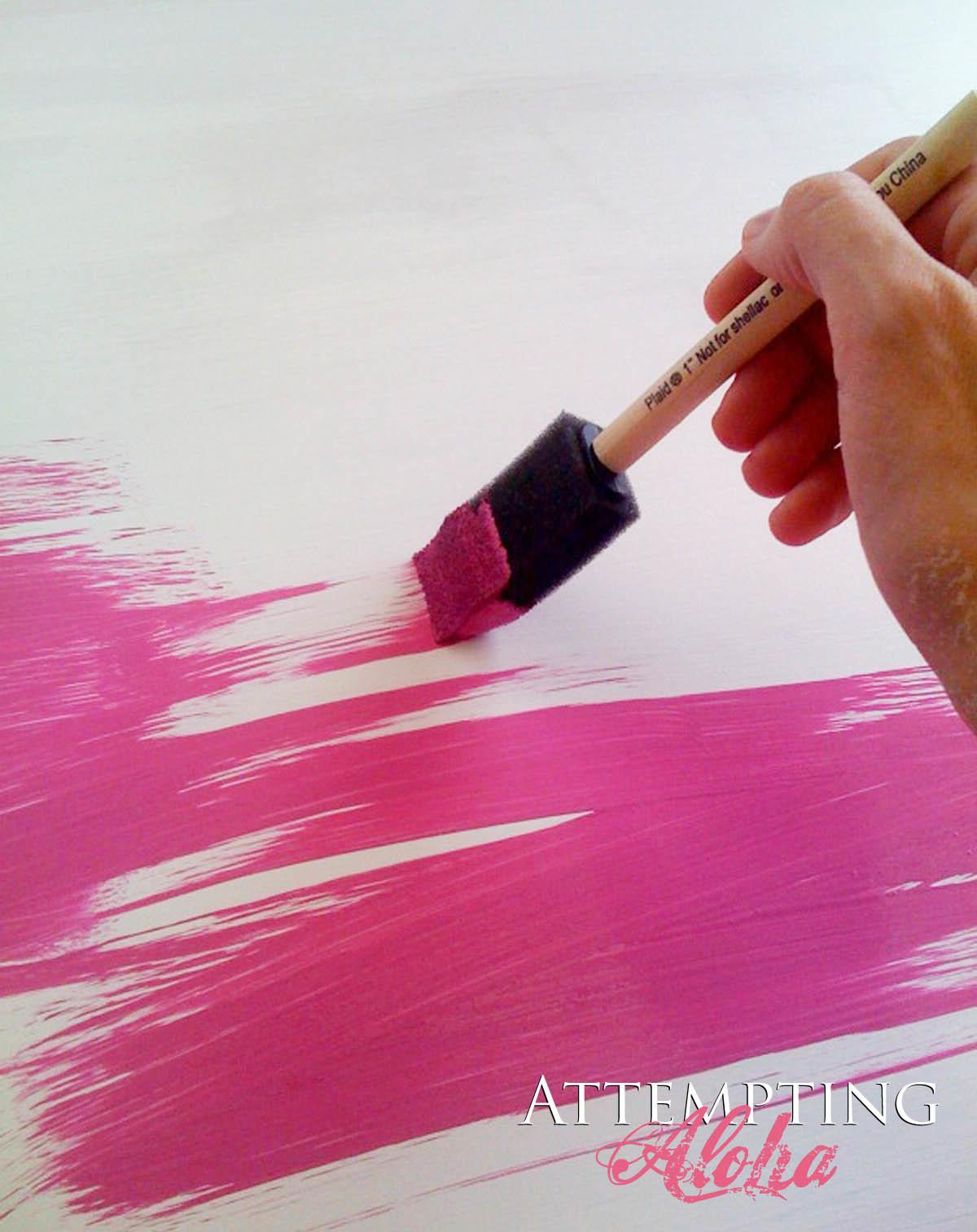 Attempting Aloha Make Your Own Chalkboard Paint Diy