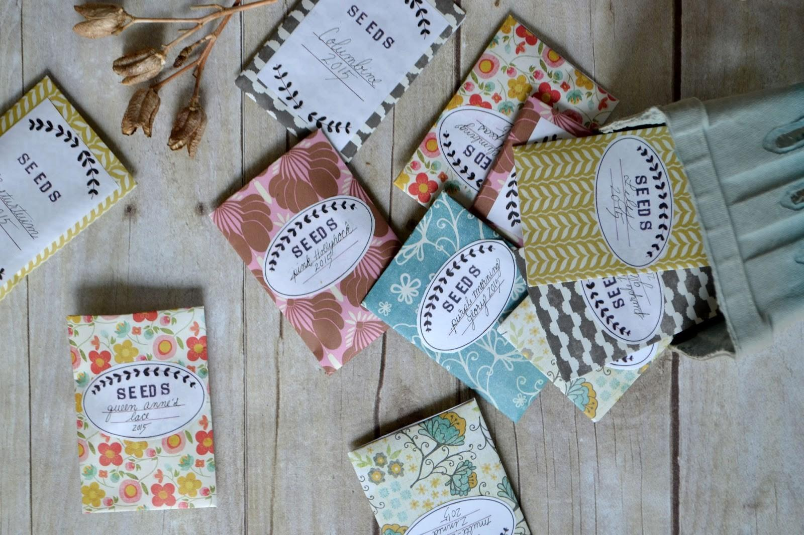 Attic Lace Diy Seed Packets