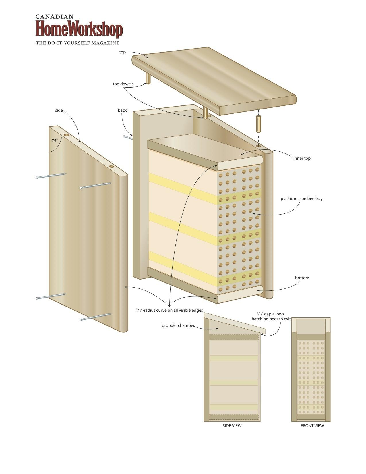 Attract Bees Your Yard Bee Box Canadian Home