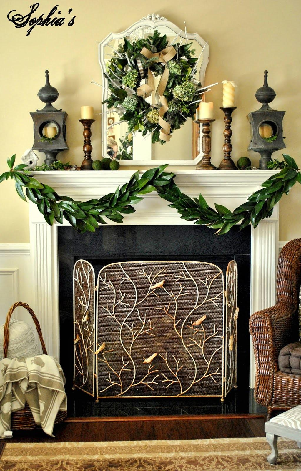 Attractive Fireplace Decor Various Simple Mantel