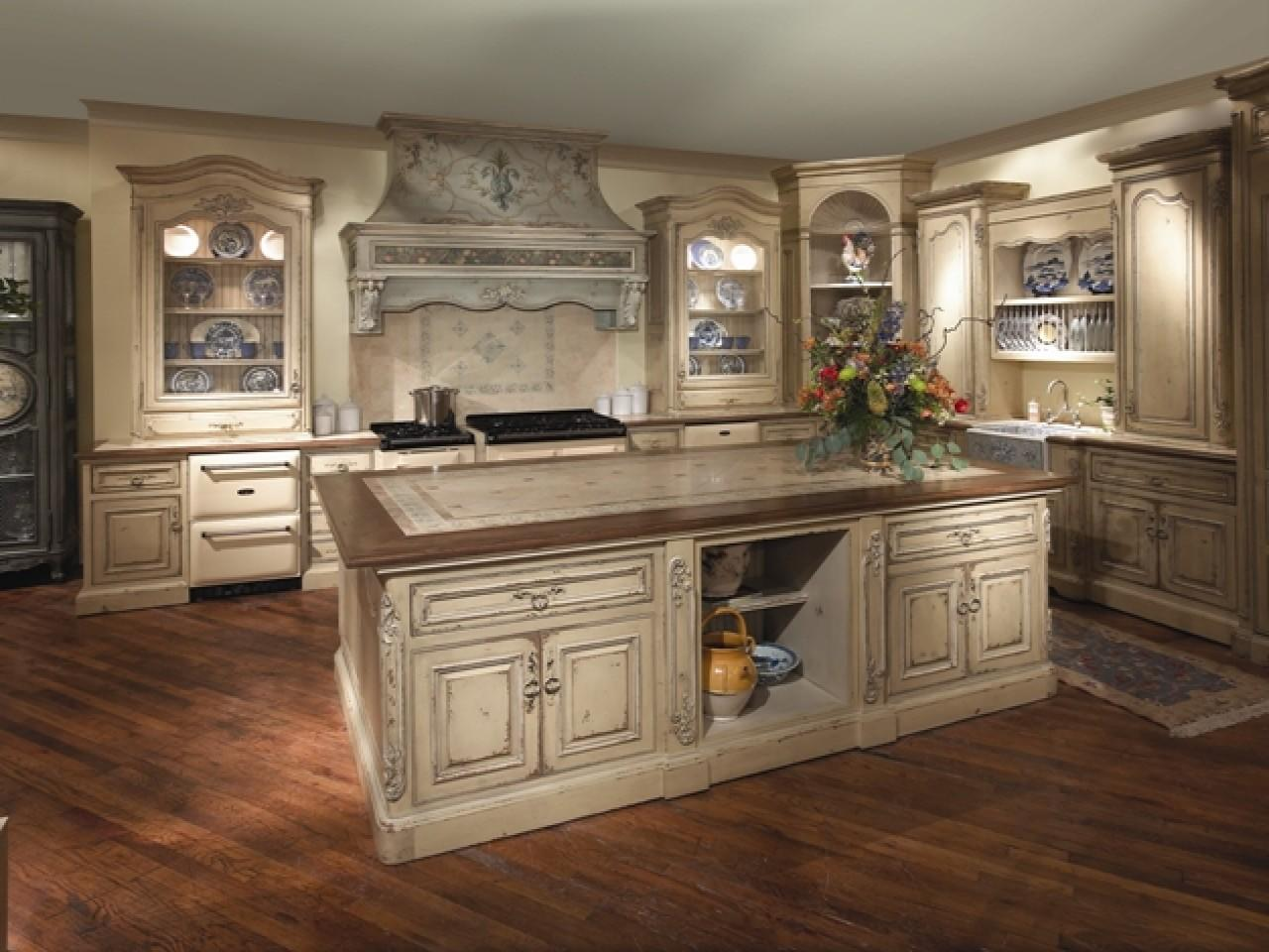 Attractive Kitchen Cabinets French Country Style