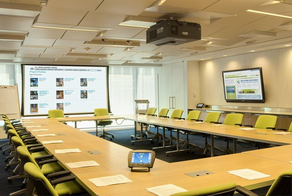 Attractive Modern Conference Room Design Perforated