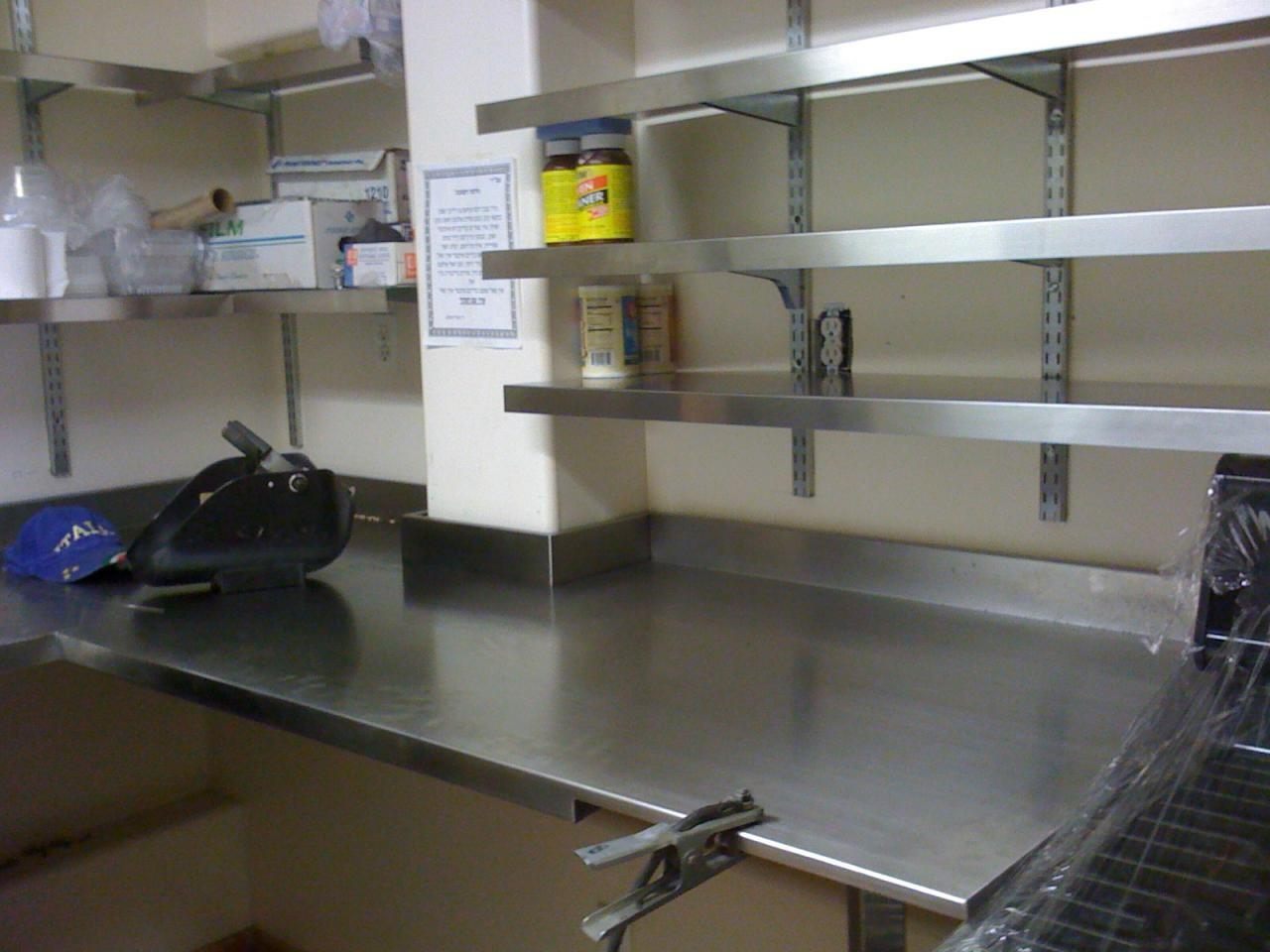 Attractive Stainless Steel Wall Shelves Kitchen Ideas