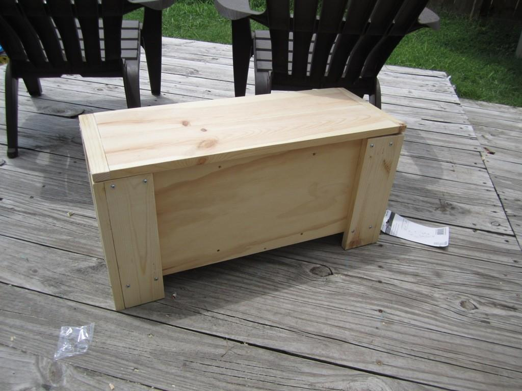 Attractive Wooden Bench Look Like Side Table Which