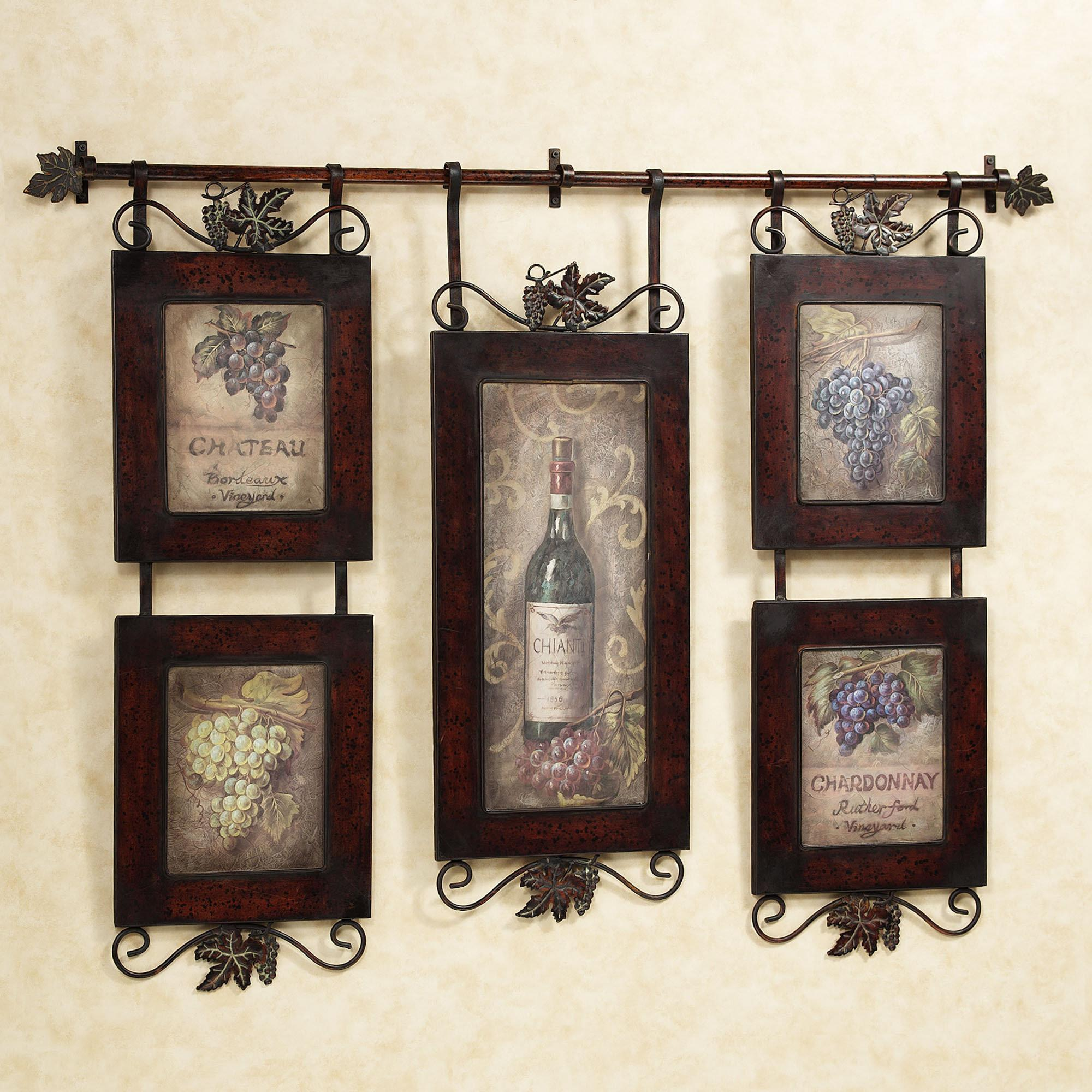 Attractive Wrought Iron Kitchen Wall Decor Including